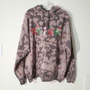 Grateful Dead dancing bears bleached out hoodie